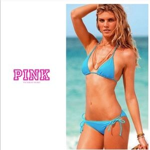 Victoria's Secret PINK triangle bikini - blue